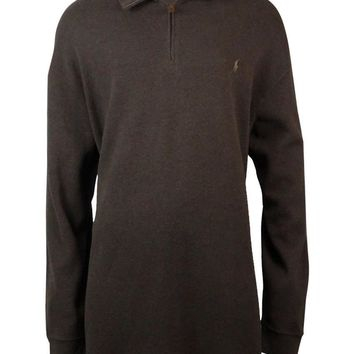 Polo Ralph Lauren Men's Big & Tall Half-Zip Ribbed Sweater