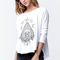 Billabong Made From Stars Long Sleeve T-Shirt - Womens Tee - White