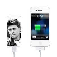 Superstar Zac Efron Power Bank External Battery Charger for iPhone and Samsung Andriod