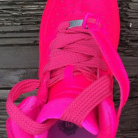 Neon Pink Mid Top Air Force 1