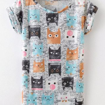 Print Ripped T-shirts For Women