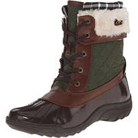 Anne Klein Sport Womens Grania Quilted Faux Fur Snow Boots