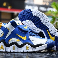 HCXX 19Sep 764 Nike Air Barrage Mid  Classic Rams Colors AT7847-100 High Basketball Shoes Casual Sneaker