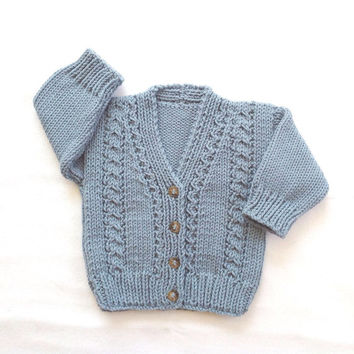 Infant cardigan - 6 to 12 months - Baby knit sweater - Baby clothing - Baby knitwear