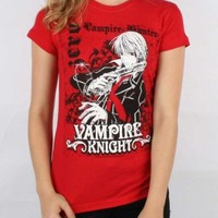 Vampire Knight - Zero Womens / Juniors T-Shirt In Red, Size: X-Large, Color: Red