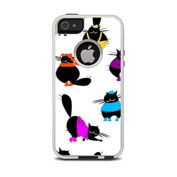 The Cute Fashion Cats Apple iPhone 5-5s Otterbox Commuter Case Skin Set
