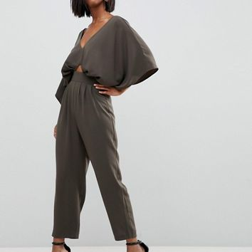 ASOS Jumpsuit with Kimono Sleeve and Peg Leg at asos.com