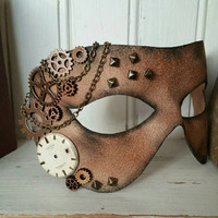 Handmade leather steampunk masquerade mask
