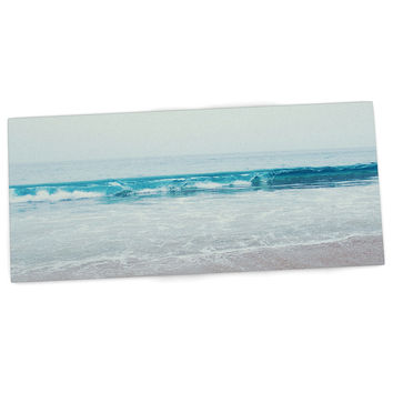 "Nastasia Cook ""Crystal Clear"" Ocean Wave Desk Mat"