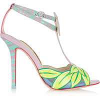 Sophia Webster - Flamingo patent-leather sandals
