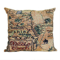 The Hobbit: An Unexpected Journey Map of Middle-earth Woven Pillow |
