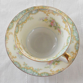 Vintage Noritake Jasmine Tea Cup, Tea Party, Cottage Chic, Wedding, Replacement China