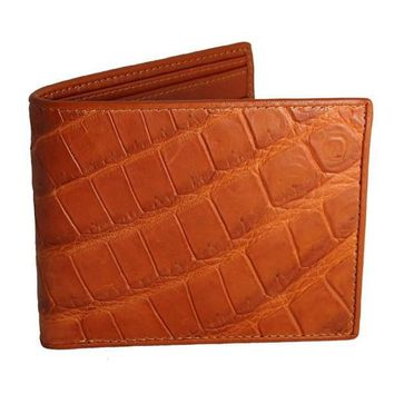 Tan Crocodile Leather Wallet