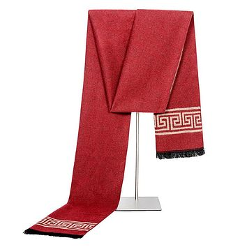 Classic Long Scarf For Mens Business Scarves Gentlemen Winter Autumn Male Style Tassel Scarves