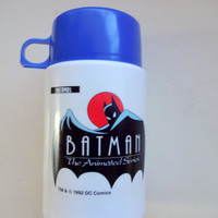 Vintage Batman The Animated Series Thermos 1992