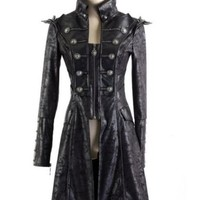 Goth/Steampunk Victorian Military Black Winter Coat/Jacket