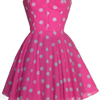 Pin-up Pink Polka Dot Prom Dress  | Style Icon`s Closet