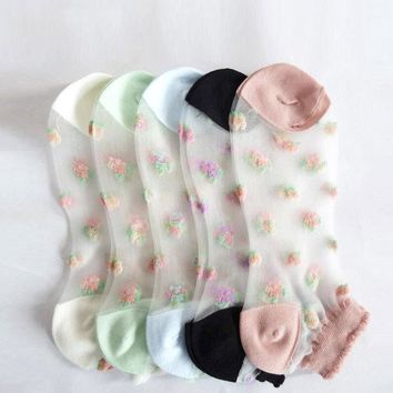 [ideaBee] ultra-cheap Hot Sales The Colorful Woman Socks Beautiful Crystal Clear Ultra-thin Socks Pink For Women Meias Wholesale