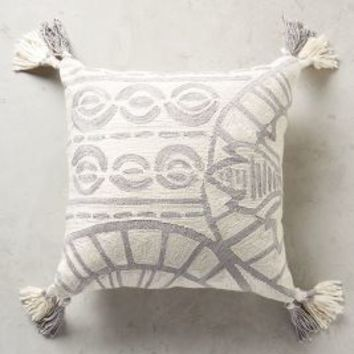 Rocio Embroidered Pillow by Anthropologie