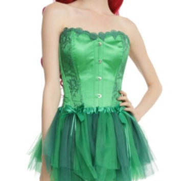 DC Comics Poison Ivy Green Lace Corset