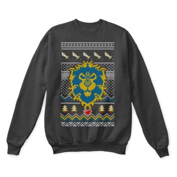 VONECT2 World Of Warcraft The Alliance Crest Ugly Sweater