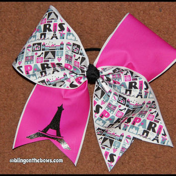 PARIS eiffel tower CHEER bow