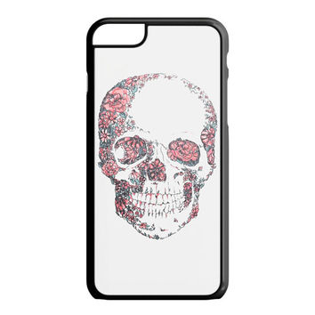 Floral Skull Wall Decal iPhone 6S Plus Case