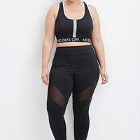 Plus Size Mesh-Paneled Athletic Leggings