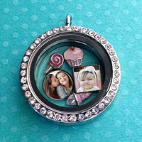 Personalized Jewelry Floating Charms Photo Charms for Living locket floating photo charms. Personalized charms gift Origami Owl locket