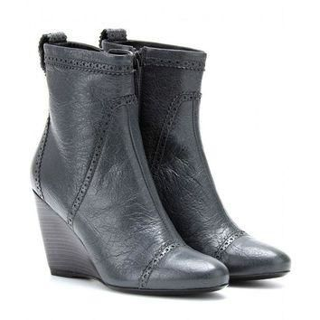 ONETOW balenciaga leather wedge brogue ankle boots 2