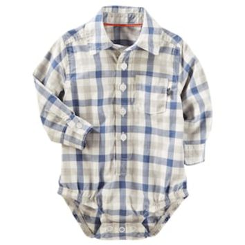 Baby Boy OshKosh B'gosh® Plaid Button-Front Bodysuit | null