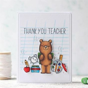 Letter Thank you Teacher Stamps and Dies