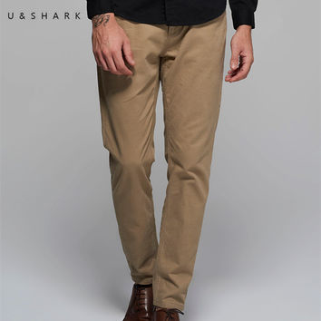 High Quality Designer Casual Khaki Pants Regular Men Workwear Luxury Spring Cotton Formal Office Trouser Male
