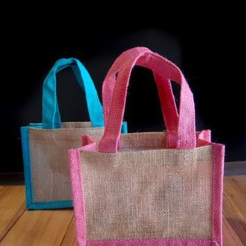 Wedding Party Favor Jute Burlap Bags | TJ871