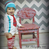 Dr. Suess Inspired 1st Birthday Outfit for Baby Boys...Tie with Suspenders...Personalized Tie Outfit...Cake Smash Outfit..Bday Photo Props