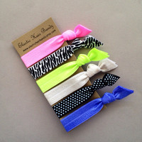 The Gabby Hair Ties-Ponytail Holder Collection - 6 Elastic Hair Ties by Elastic Hair Bandz on Etsy