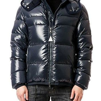Wiberlux Moncler Harry Men's Detachable Hood Glossy Down Jacket