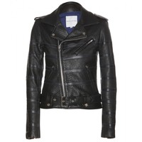 each x other - leather biker jacket