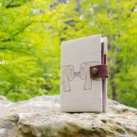 Elephant / Planner / Calender / Organizer / 4 Colors / A6 - A7 / weekly planner / Daily planner / Refillable / Handmade/animal/art / wildife