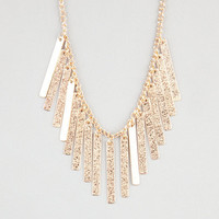 Full Tilt Diamond Dust Stick Necklace Gold One Size For Women 24243562101