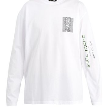 Graphic-print long-sleeved cotton T-shirt | Raf Simons | MATCHESFASHION.COM UK