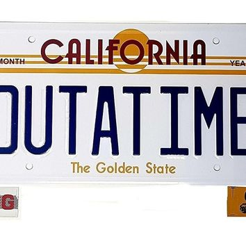 ASVP Shop Back To The Future OUTATIME License/Number Plate Marty Mcfly Delorean Movie Prop