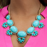 A Little Something Extra Necklace, Turquoise