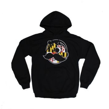 Natty Boh Logo with Maryland Flag (Black) / Hoodie