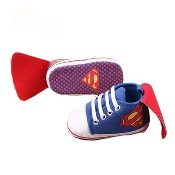 Choice of Superman or Batman Baby Shoes with Capes