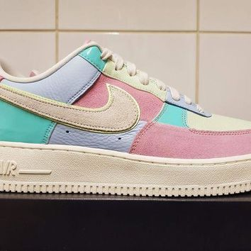 Gotopfashion Nike Air Force 1 Low QS Easter Egg Patchwork Blue Pink Sail UK 9 US 10 EU 44