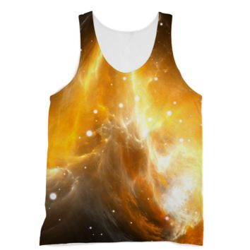 Bright Yellow Starry Galaxy American Apparel Sublimation Vest