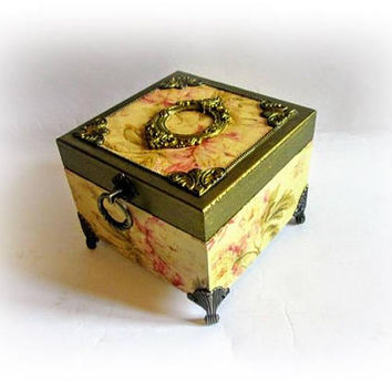 Vintage Jewelry Box French Chic Box Makeup Storage Gift For Her Gift for Mom Le Boudoir Le Mademoiselle Box Valentines Day Gift for Her