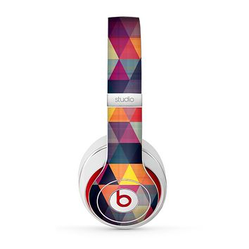 The Vector Triangular Coral & Purple Pattern Skin for the Beats by Dre Studio (2013+ Version) Headphones
