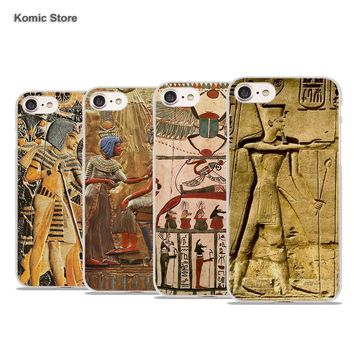 Ancient Egyptian Style Art Phone Cover for Apple iPhone 7 7Plus 6 6s Plus SE 5 5s 4s 5c